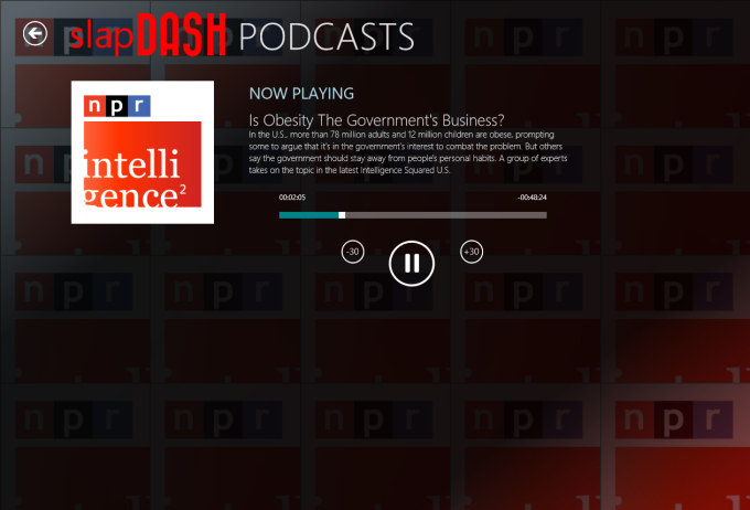 SlapDash Podcasts for Windows 10