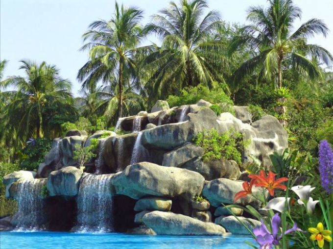 Tropic Waterfall - Animated Wallpaper