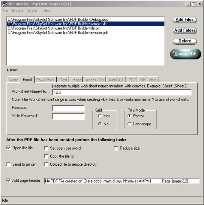 pdf builder download