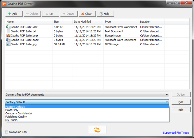 Gaaiho PDF Driver  32 bits