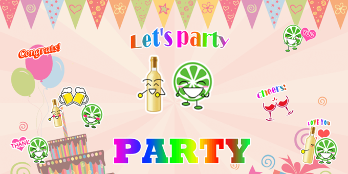 Party Sticker GIF Free