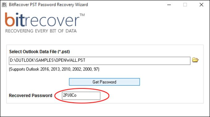 BitRecover PST Password Recovery Wizard