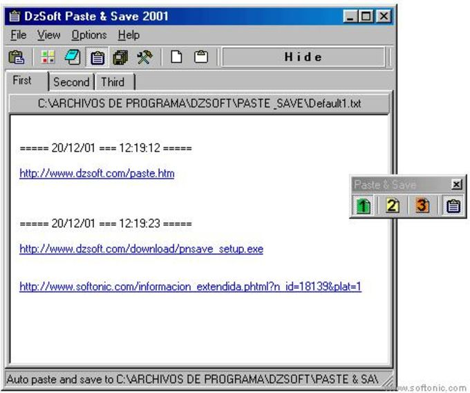 DzSoft Paste & Save