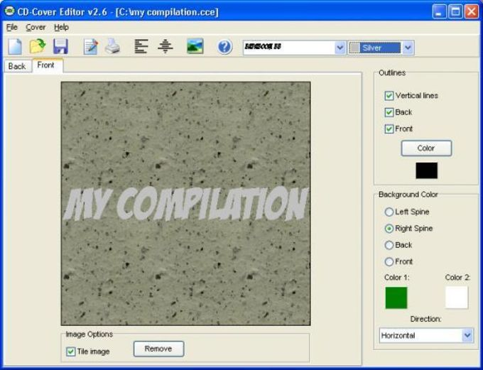 CD-Cover Editor