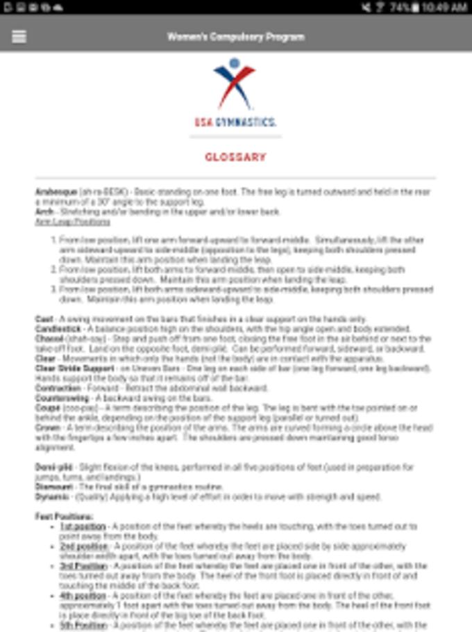USA Gymnastics Compulsories