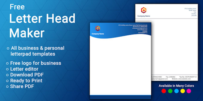 Letterhead Maker Business Letter Pad Template Logo For Android