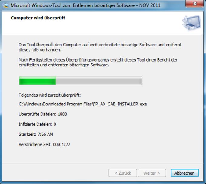 Microsoft Windows-Tool zum Entfernen bösartiger Software