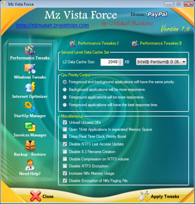 Mz Vista Force