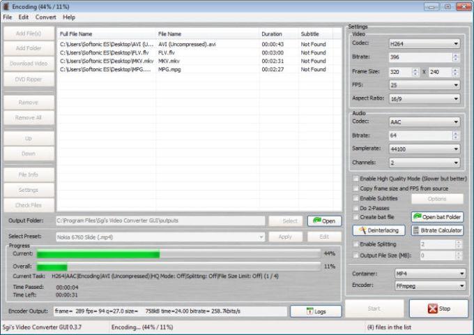 SGI's Video Converter GUI