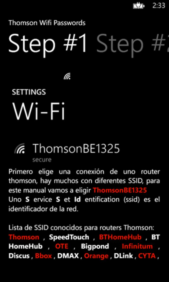 Wifi Passwords