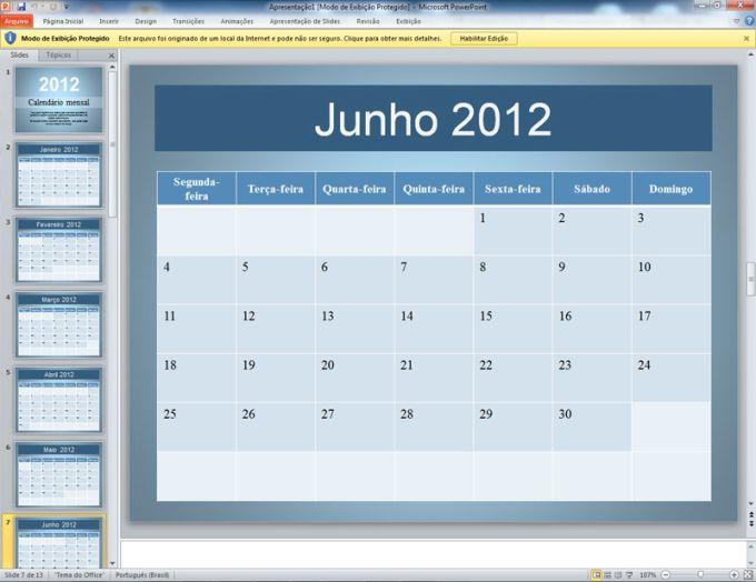 Calendário de 2012 Mensal (2)