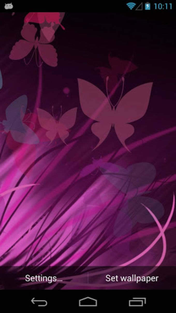 Lilac Butterfly Live Wallpaper