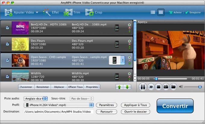 AnyMP4 iPhone Vidéo Convertisseur pour Mac