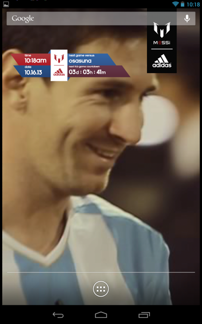 Official Messi Live Wallpaper