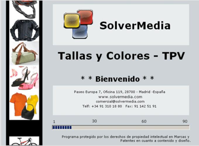 Tpv Talla y Colores SolverMedia