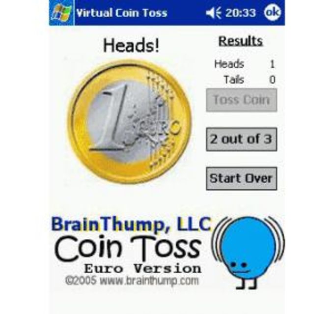 BrainThump Virtual Coin Toss