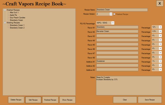 Craft Vapors Recipe Book