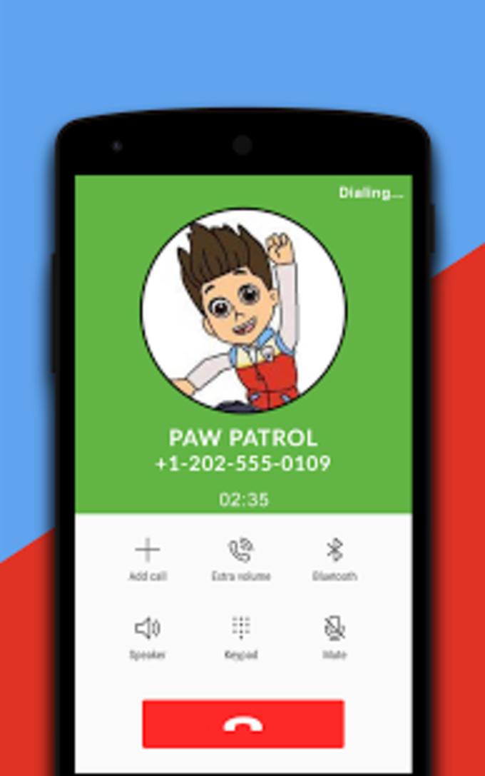 Ryder Paw Patrol Fake Call Simulator