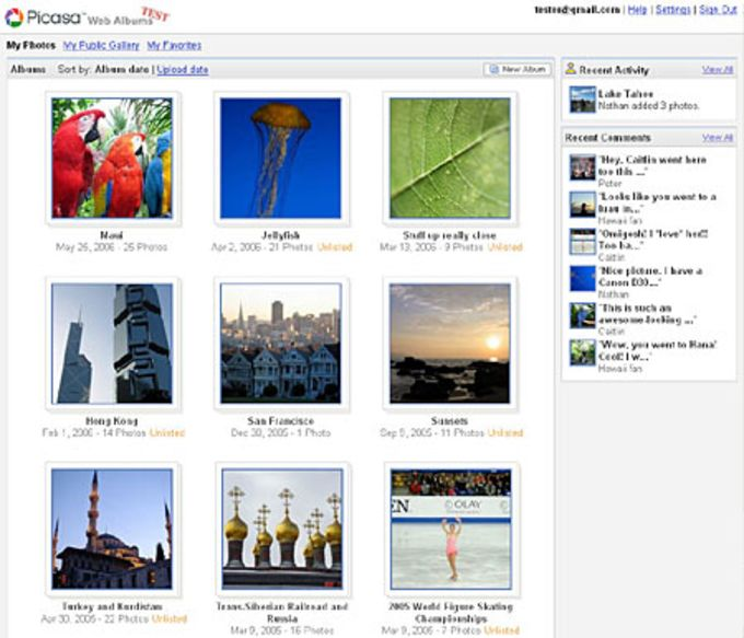 Google Picasa Web Albums Uploader