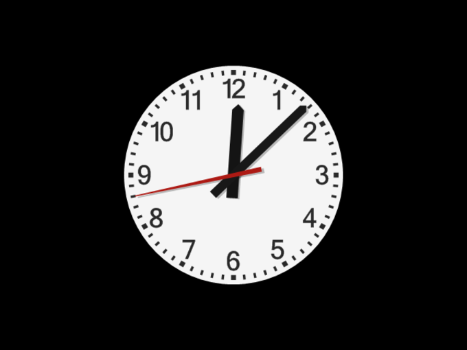 Analog DIN clock screensaver