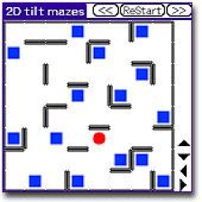 2D Tilt mazes