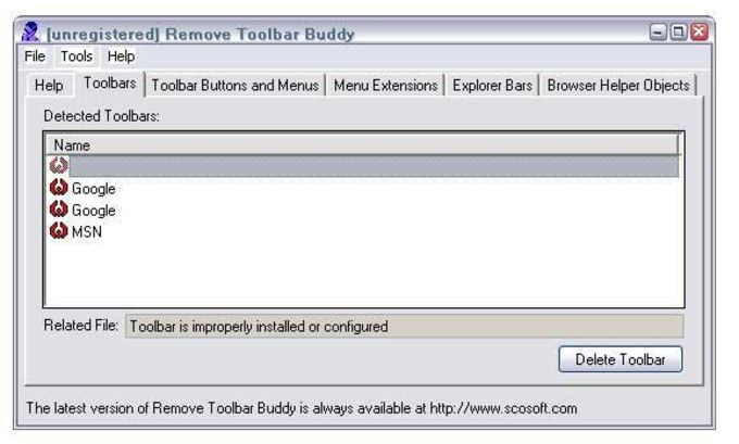 Remove Toolbar Buddy