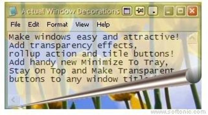 Actual Windows Decorations