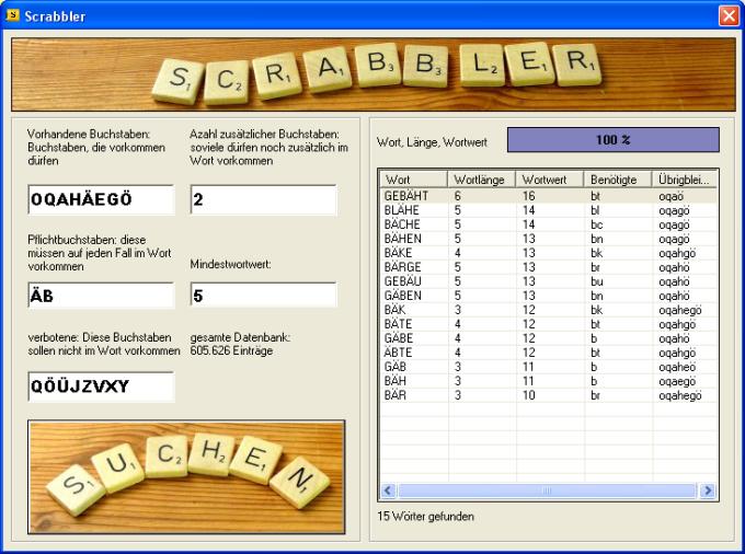 Scrabbler, the Scrabble Cheater