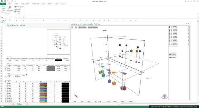 5dchart Add-In (for MS Excel)