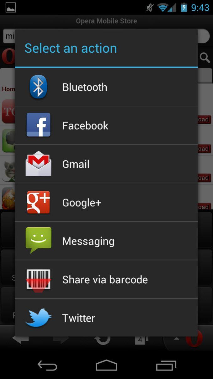Opera Mini Next na Android - Download