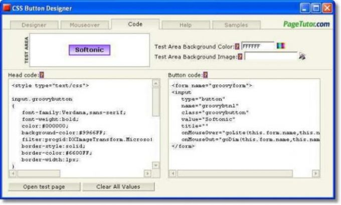 CSS Button Designer
