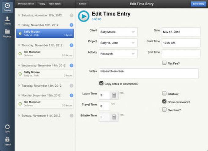 Bill4Time Desktop Widget