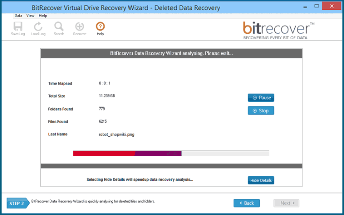 Virtual Drive Recovery Wizard