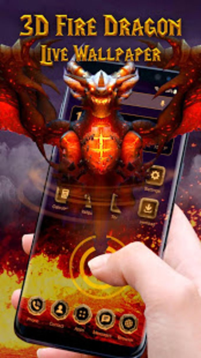 3D Fire dragon live wallpaper
