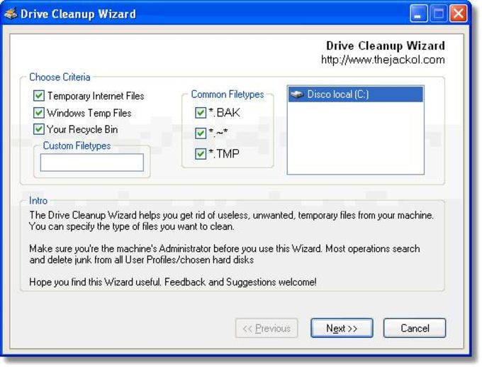 Drive Cleanup Wizard