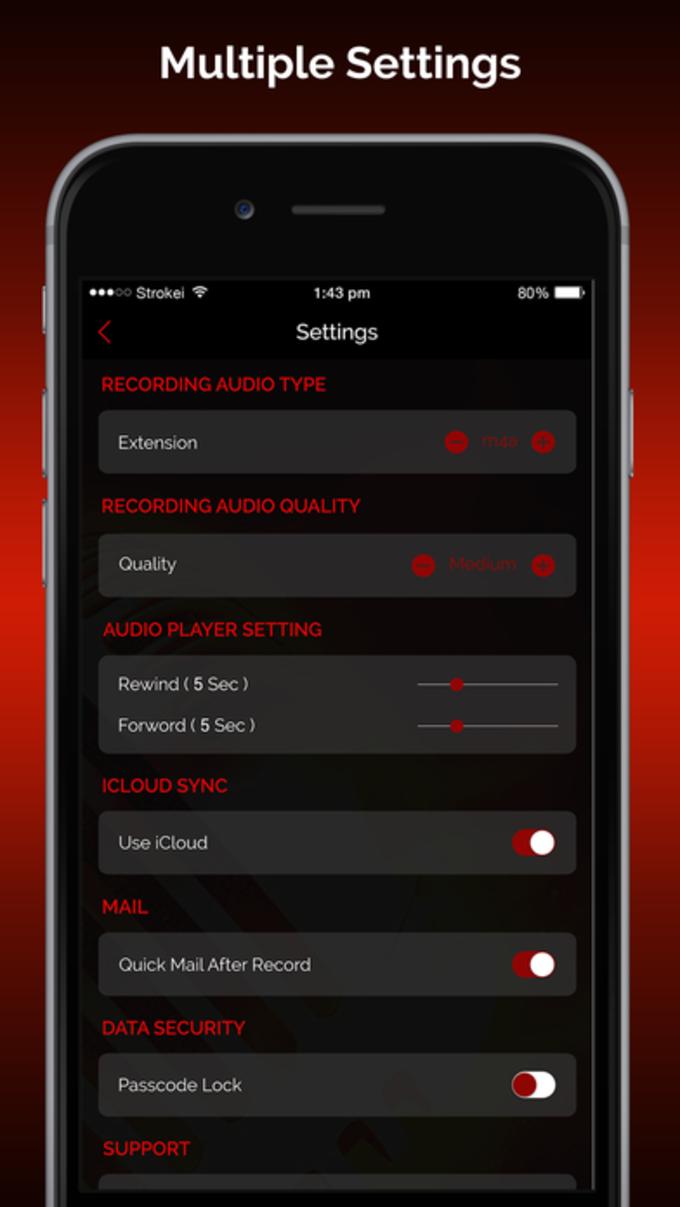 Quick Recorder Pro: Voice Record,Trim,Share,Upload