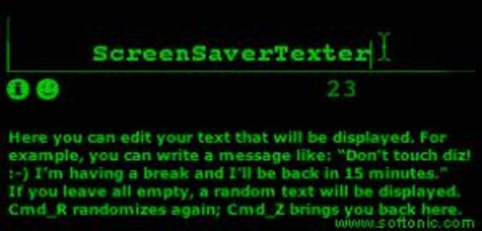 ScreenSaverTexter