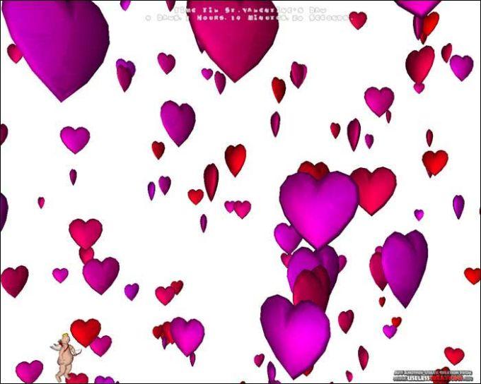 Cupid's 3D Valentine's Day Screensaver