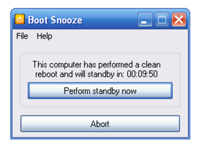 Boot Snooze