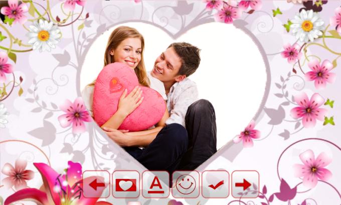 Valentines Day Frame Collage