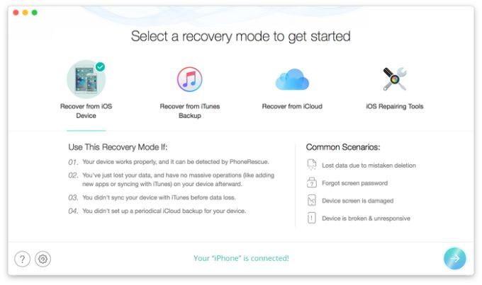 PhoneRescue for Mac