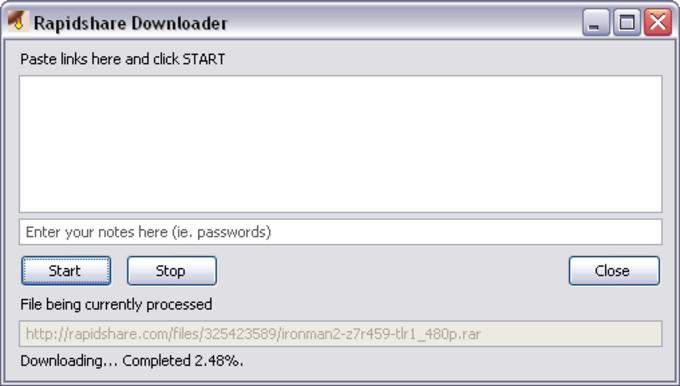 RDown Rapidshare Downloader