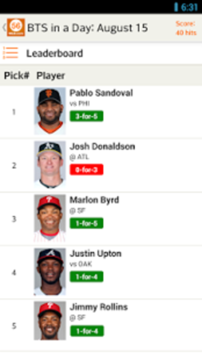 Beat the Streak by MLB.com