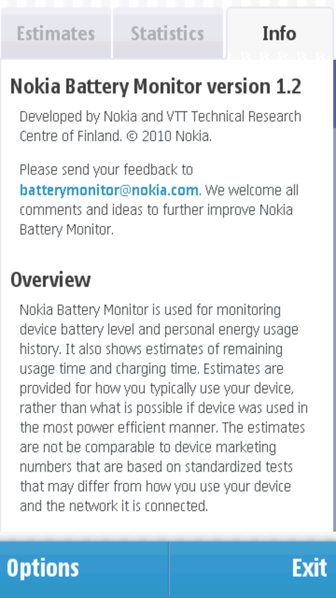 Nokia Battery Monitor