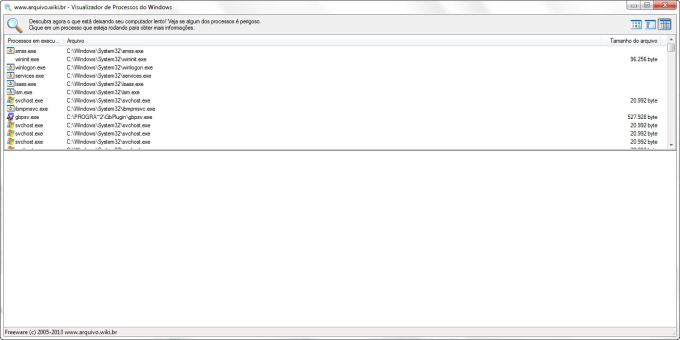 Visualizador de Processos do Windows
