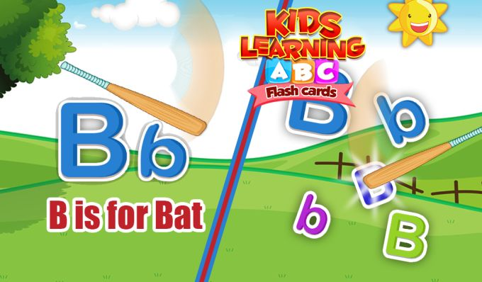 Kids Learning ABC Flash Cards
