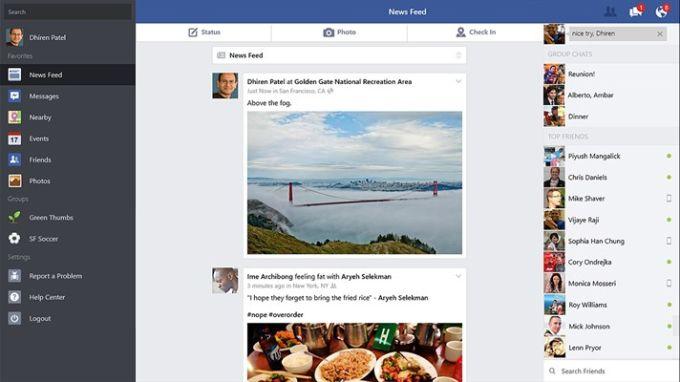 Facebook para Windows 10