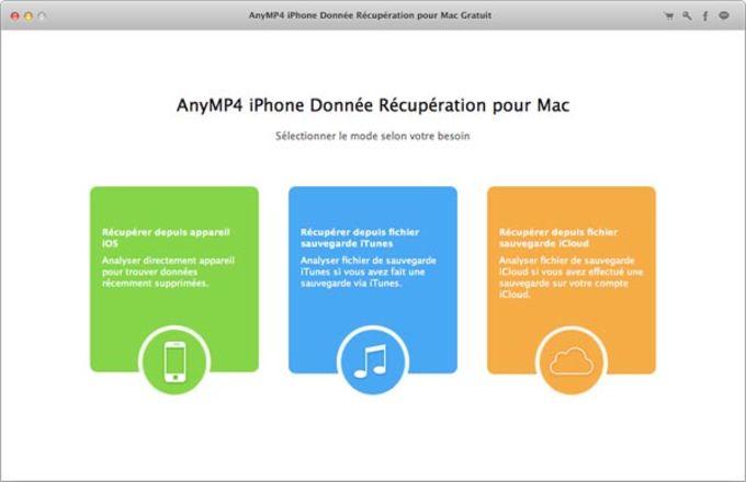 iPhone Donnée Récupération pour Mac Gratuit