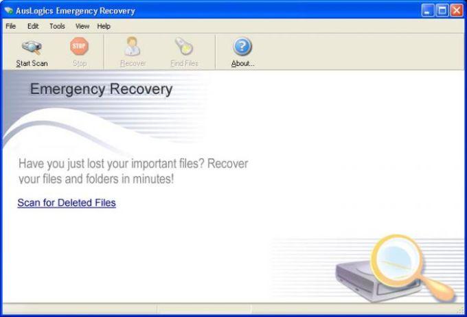 Auslogics Emergency Recovery
