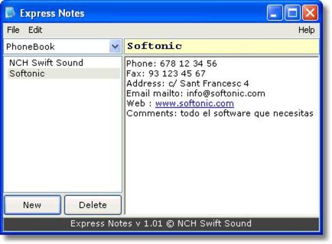Express Notes
